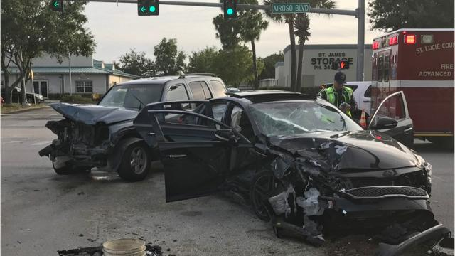 A 20-year-old Port St. Lucie woman was cited for allowing a 12-year-old girl to drive a car, resulting in a three-vehicle crash. LAURIE K. BLANDFORD/TCPALM