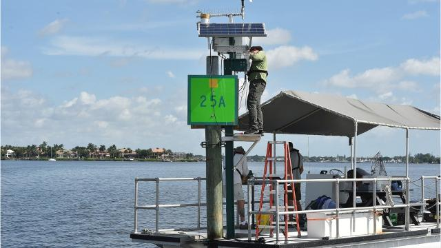 A network of remote-controlled water monitors called Kilroys and LOBOs provide constant, real-time data on conditions in the Indian River Lagoon and its tributaries. TYLER TREADWAY/TCPALM