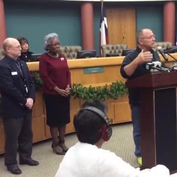 Mayor Dan McQueen speaks to the progress being made