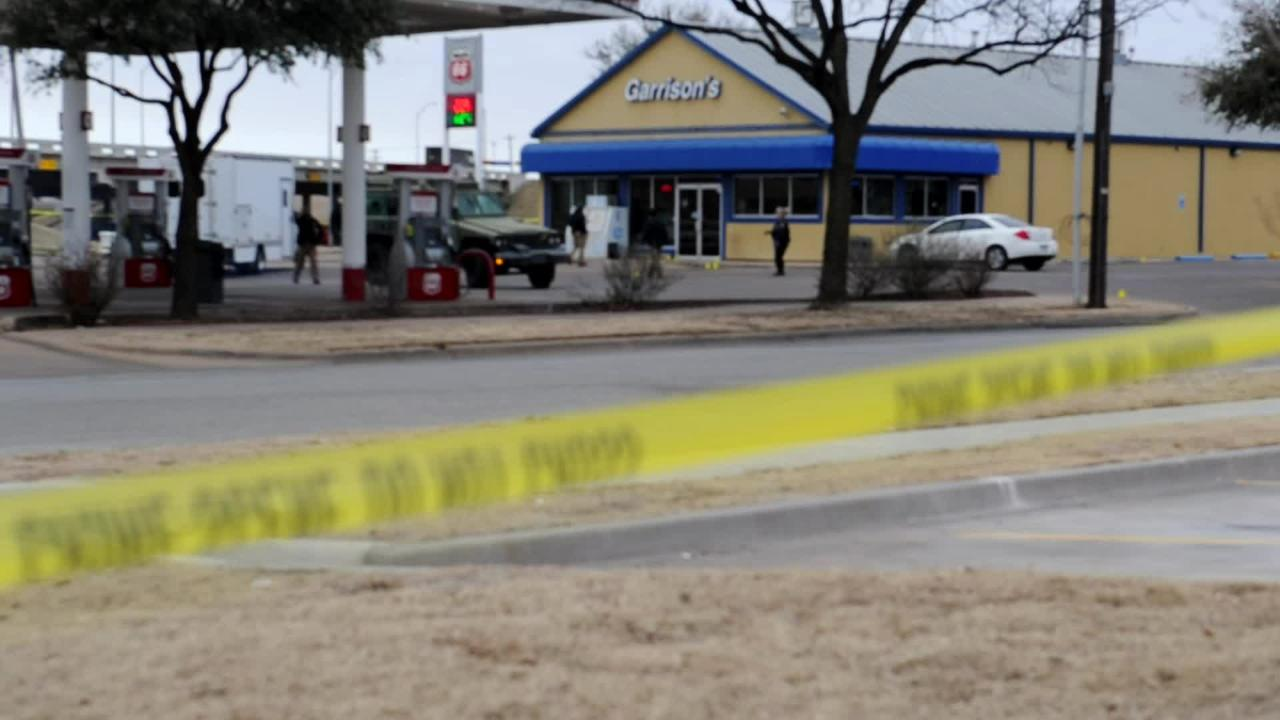 Wichita Falls Police remained on the scene early Friday of a hostage incident that ended in gunfire late Thursday.