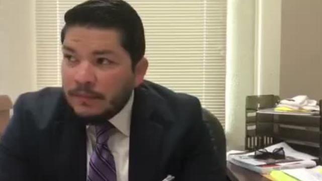Mark Gonzalez invites the bishop to the DA's Office