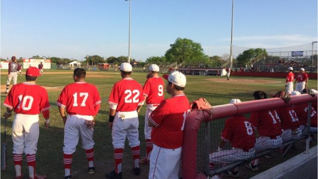 Cotton Pickers pitcher Carlos Trevino threw a three-hit shutout as Robstown beat Sinton 1-0 in a battle of District 31-4A heavyweights.