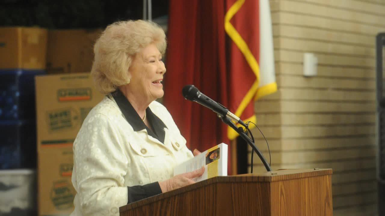 Author Johnnie Lou Avery Boyd talks about her book 'MizHat: The Life Journey of Roy Helen Herndon Mingus Ackers' as part of the spring Texas Author Series at the Abilene Pubic Library main branch.