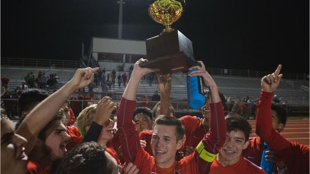 The Ray boys soccer team won the program's first district title with a 3-2 win against Flour Bluff on Tuesday.