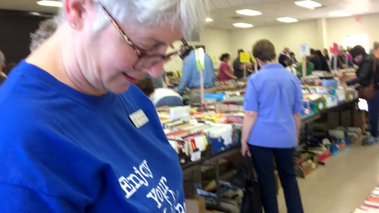 Wichita Adult Literacy Council annual books sale held at Midwestern State University's Sikes Lake Center. All proceed benefit the council's literacy program. The sale continues Saturday March 4th from 9 A.M to 8 P.M.