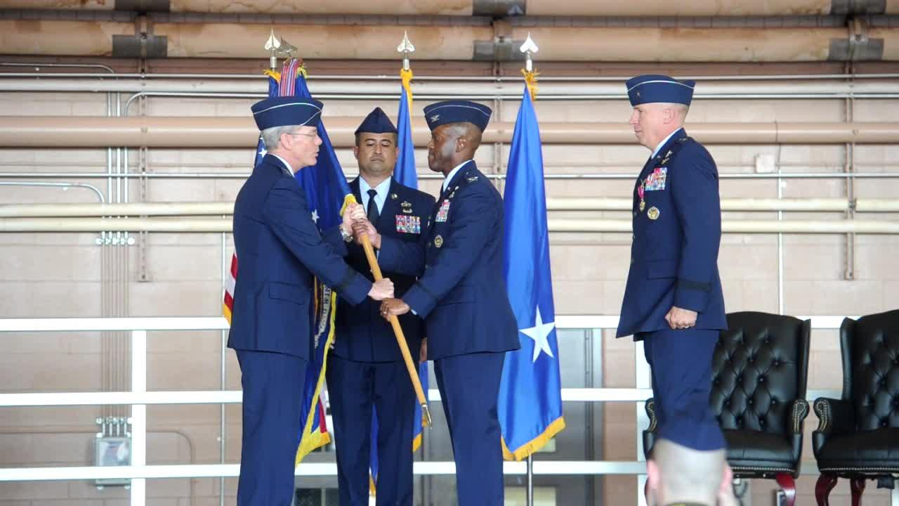 Change of Command ceremony at Sheppard Air Force Base.