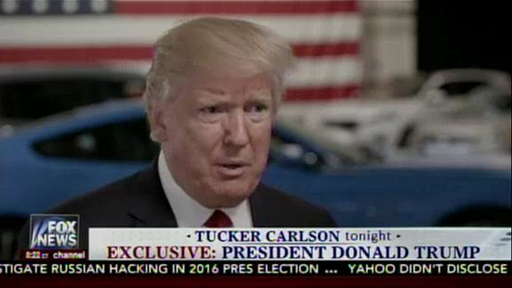 President Trump told Fox New Channel's Tucker Carlson Tonight his administration will submit 'certain things' linked to his claim that the Obama administration wiretapped him. He also insisted the White House did not leak his tax documents.