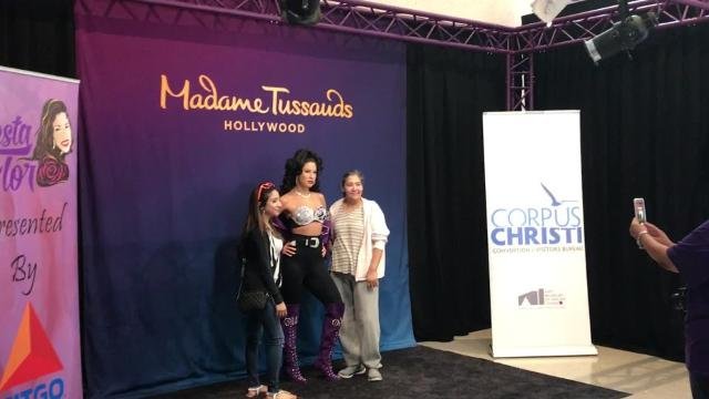 Fans waited hours in line to see Madame Tussauds Hollywood's wax figure of Selena at Fiesta de la Flor on Friday, March 24, 2017.