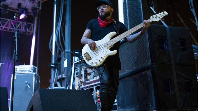 AB Quintanilla 3 y Elektro Kumbia performs during the second day of the Fiesta de La Flor festival on Saturday, March 25, 2017.