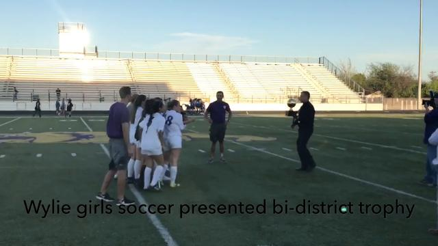 Wylie girls soccer defeated Decatur 12-0 on Thursday in the Class 4A bi-district round.
