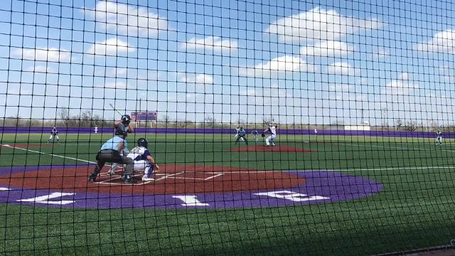 Brothers Clay and Grant Martin meet at Bulldog Field as Wylie baseball defeated Burkburnett 12-2 in five innings Saturday.