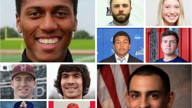 10 former Coastal Bend high school athletes who excelled last week at the collegiate level.
