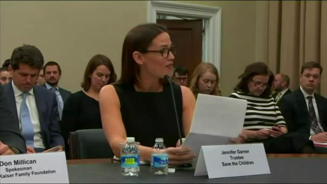 """Jennifer Garner testifies on Capitol Hill in support of education programs for preschoolers in poverty, saying she grew up """"one generation and one holler removed from poverty."""" (March 17)"""