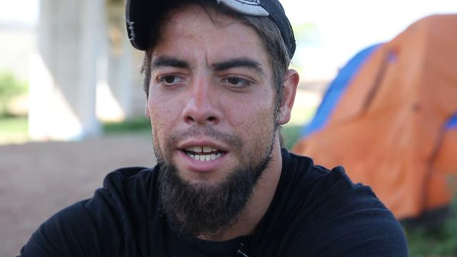 Dustin Halvorson talks about drug addiction and living on the streets.