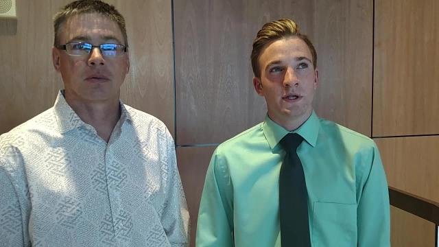 Star Student Calvin Spencer talks about his passions with his father, Colorado ISD Superintendent Reggy Spencer.