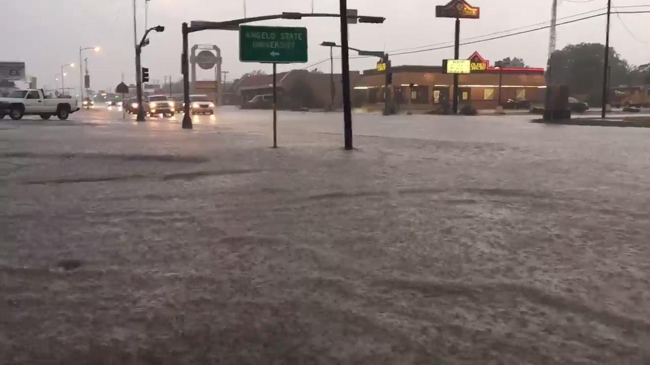 Heavy rain, flooding in San Angelo on Thursday, June 1.