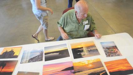 Judging photos at the Ventura County Fair