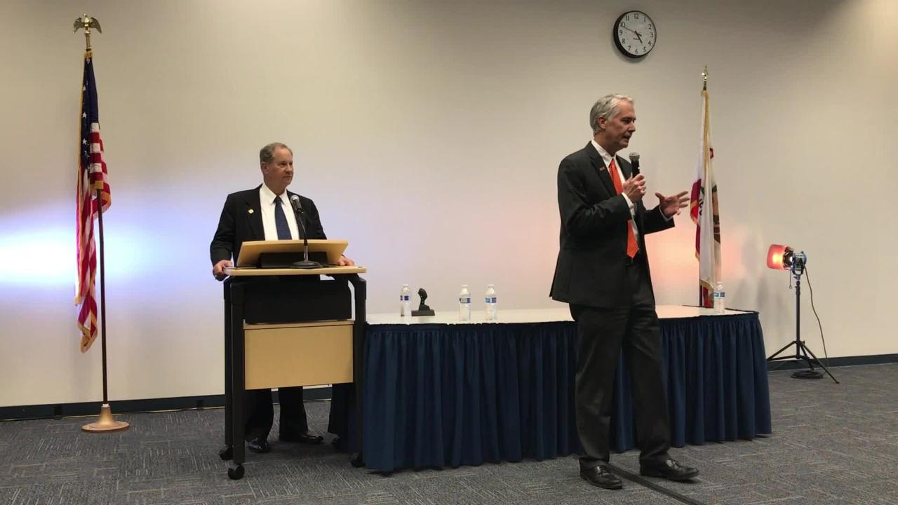 Video: Chancellor candidate Greg Gillespie