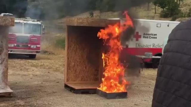 Video: Ventura County fire prevention demonstration