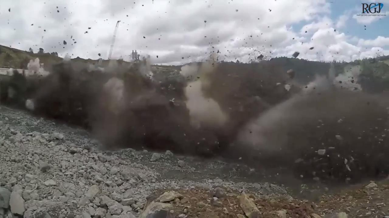Watch crews blow up ruined Oroville Dam spillway